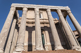 Temple of Antoninus and Faustina in the Roman Forum, Rome, Italy