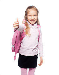 Child with schoolbag