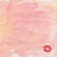 rosa hintergrund mit kussmund