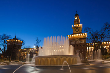 Sforzesco castle in Milan