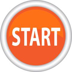 Круглый векторный знак с надписью START