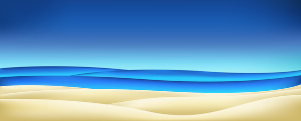 Summer - sea sky sand