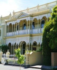 Nineteenth century house in Melbourne in Victoria