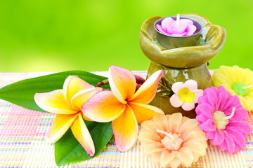 Spa aromatherapy ,candle and flower.