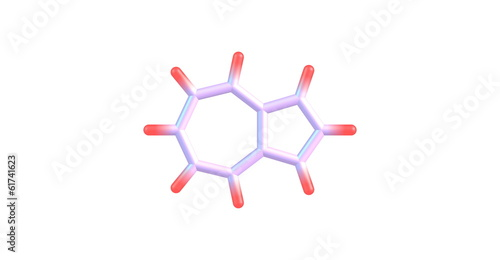 Azulene molecular structure on white background