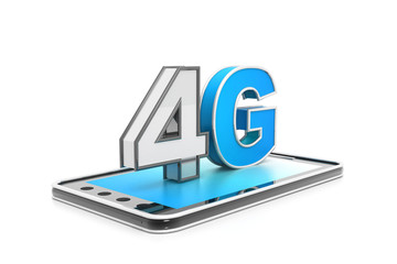4g high speed internet concept