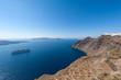 Obrazy na płótnie, fototapety, zdjęcia, fotoobrazy drukowane : Cruise Ship in Santorini Greece