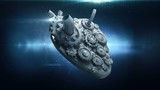 human heart with rotating metal gears loop