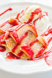 Pancakes strawberry