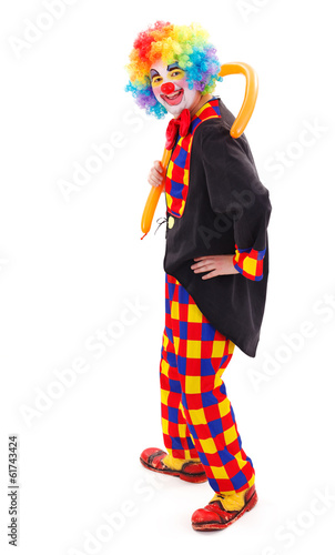 Clown with long balloon