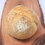 fresh bread on wood background