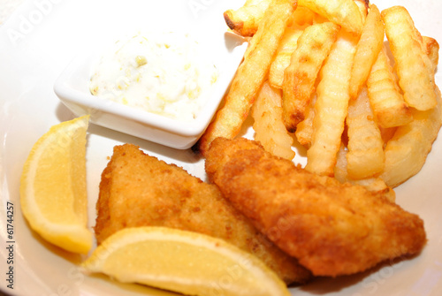 Fish and Chip Dinner with Tartar Sauce