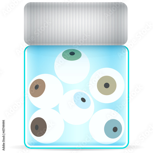 eye glass jar