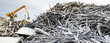 Leinwanddruck Bild - Scrap metal recycling plant and crane