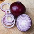 red onion on table