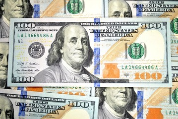 Background of American 100 Dollar Bills
