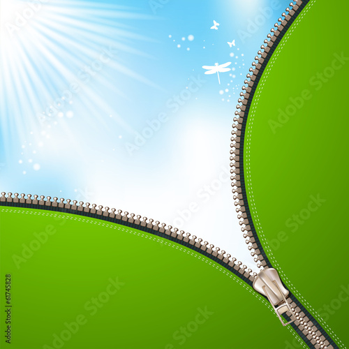 Sky background with zipper