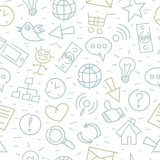 Pattern doodle internet companionship ideas poster