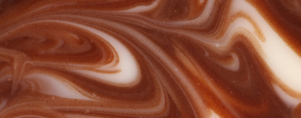 Twisted chocolate mixed texture.