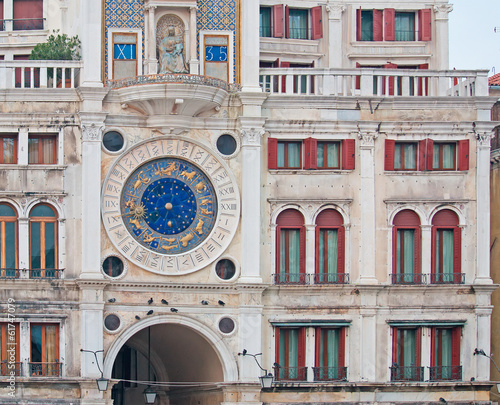 detail of Venice clock tower