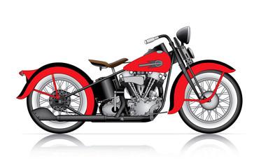red classic motorcycle