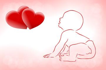 niemowle i serca