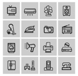 vector electronics icon set