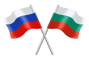 Flags: Russia and Bulgaria