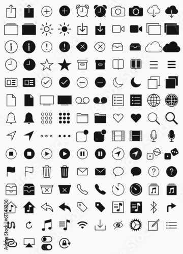 hin Icons Set. Simple line icons pack for your design