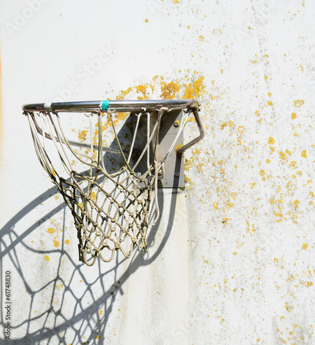 old hoop with net