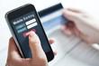 Leinwanddruck Bild - Mobile banking concept