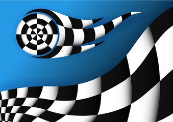 Racing Flag Vector Background