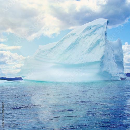 Foto Spatwand Gletsjers giant iceberg on the coast of Newfoundland