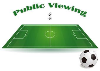 Public Viewing - Fussballfeld