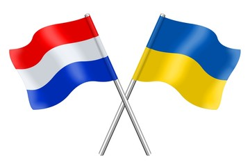 Flags: Ukraine and the Netherlands