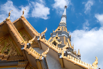 Top of roof Thai temple