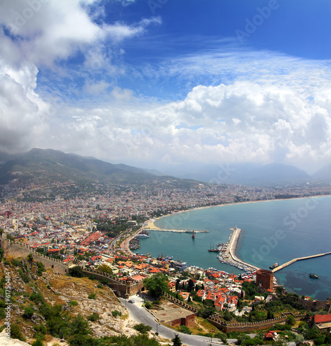 Alanya Turkey landscape from fortress