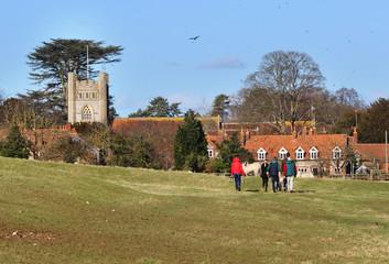 An English Rural Hamlet in Winter Sunshine