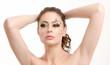 model posing makeup