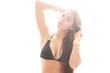 Frau mit top Body im Bikini