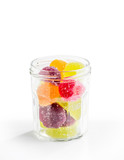 Fruit Jelly in Glass Jar