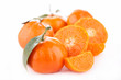 canvas print picture - orange fruit isolated