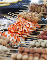 Thai street food on the market