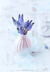 Grape Hyacinths in a Vase