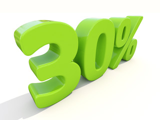30% percentage rate icon on a white background