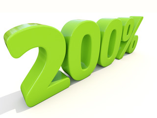 200% percentage rate icon on a white background