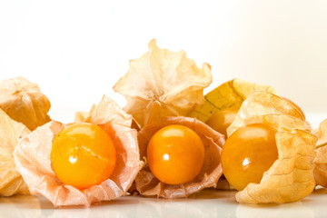 Cape gooseberry, Physalis on a white background