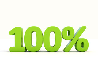 100% percentage rate icon on a white background