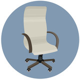 vector  office chair, flat illustration