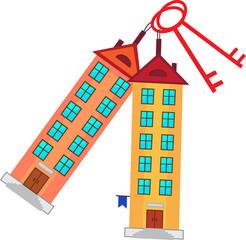 Символ. Здания, ключи.